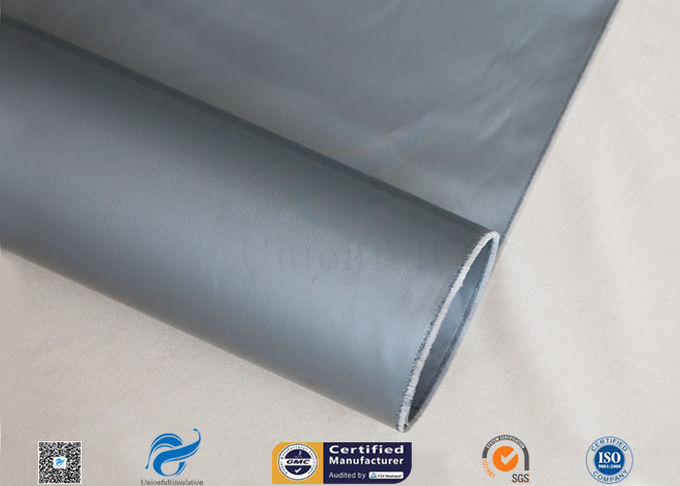 Grey Silicone Coated Fiberglass Fabric 7628 0.25mm For Electrical Insulation
