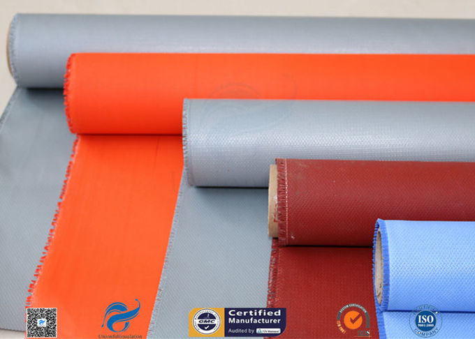Plain Weave Thermal Insulation Materials Silicone Coated Fiberglass Fabric