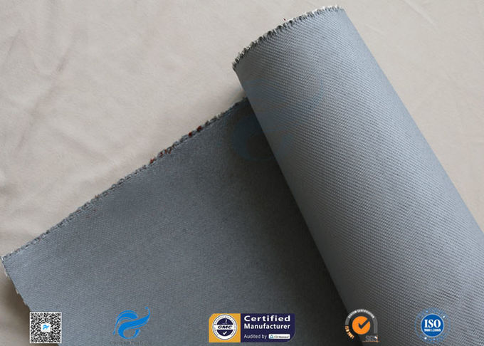 1550G 1.5MM Thermal Insulation Materials Grey Silicone Coated Fiberglass Fabric
