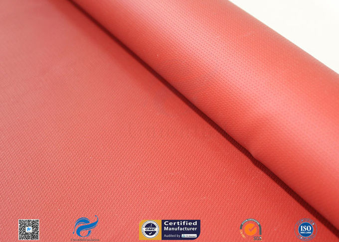 580gsm 260℃ Fiberglass Cloth Thermal Insulation Jacket Fabric Silicone Coated