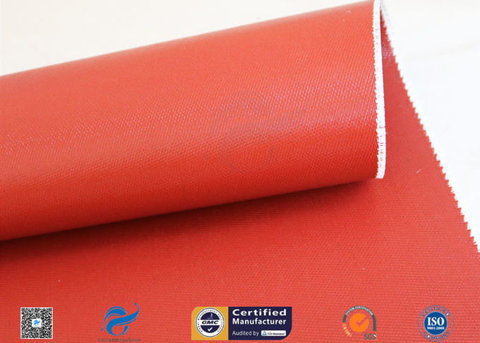 Silicone Coated Fiberglass Fabric Thermal Insulation Materials 1010GSM 51""