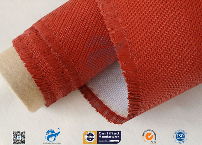32OZ Red Silicone Coated Fiberglass Fabric Industrial Fire Safe Blanket 550℃