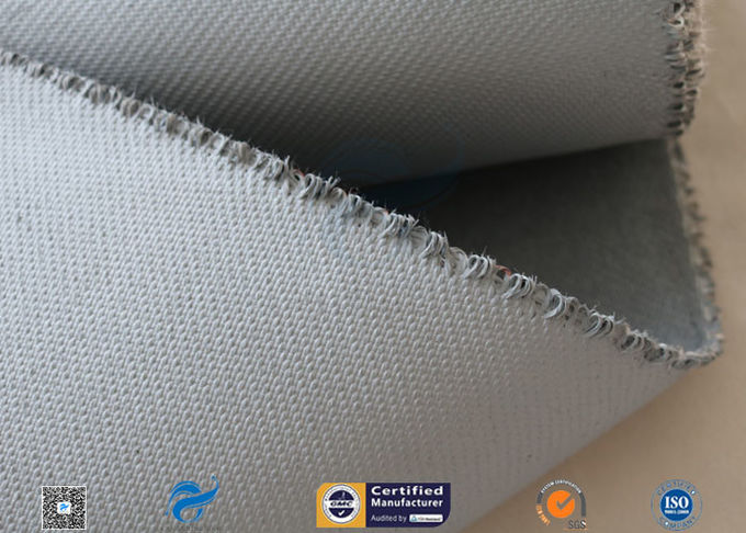 Grey Silicone Coated Fiberglass Fabric 47OZ 1.3MM Electrical Insulating