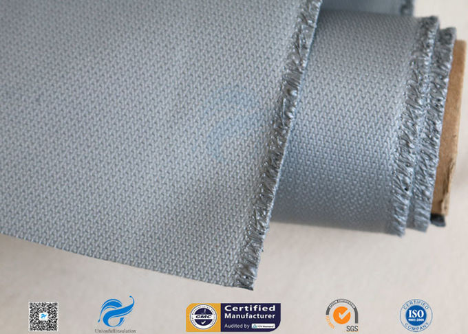 "3732 580g/m2 39"" Grey Silicone Coated Fiberglass Cloth For Expansion Joint"