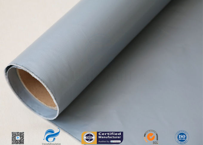 Grey Silicone Coated Fiberglass Cloth Engine Thermal Insulation Coated Glass Fabric