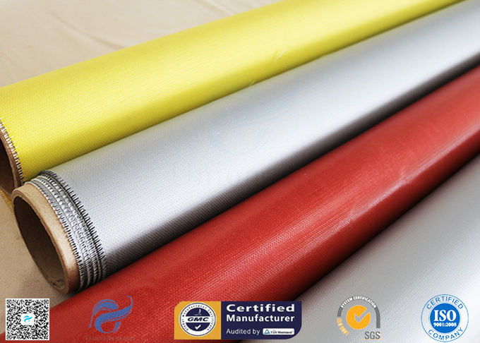 1.5m Wide 0.45mm Silicone Coated Fiberglass Fabric 80g Single Side Chemical Resist