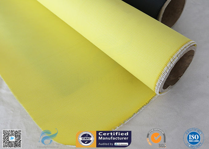 C-glass 590g Satin Weave Silicone Coated Fiberglass Fabric Welding Curtain 0.45mm
