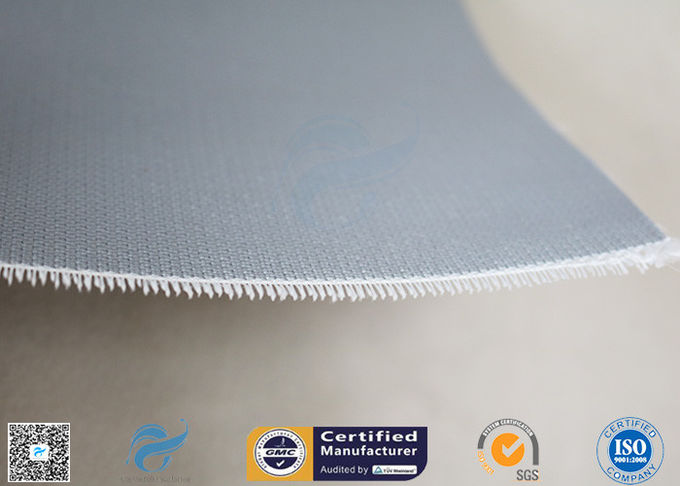 Double - Sides 1.5m*50m 0.45mm Gray Silicone Coated Fiberglass Fabric Welding Curtain