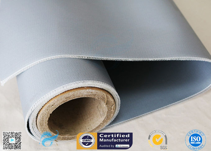 Thermal Insulation 260℃ E - Type Glass 20.8oz Silicone Coated Fiberglass Fabric