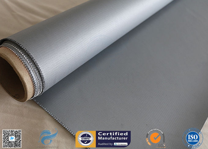 Electrical Insulation 40/40g 1.2m Width 260℃ Silicone Coated Fiberglass Fabric