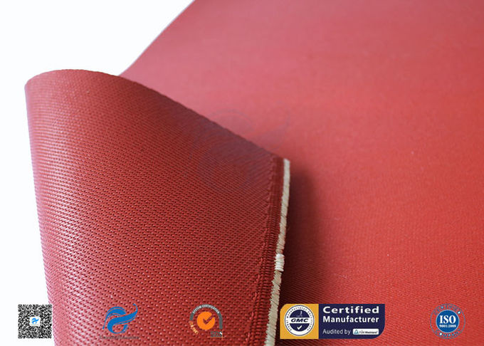 Heat Resistant Red Silicone Coated Fiberglass Cloth Double Sides 1.3mm