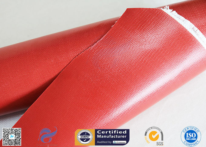 IMO Testing Fireproof 510g Silicone Coated Fiberglass Fabric 1*50m Welding Curtain