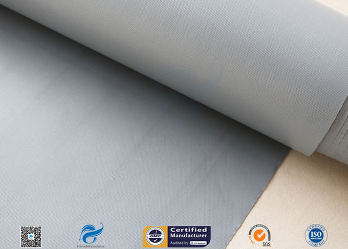 0.25mm Plain Waterproof PVC Coated Fiberglass Fabric For Fireproof Tents