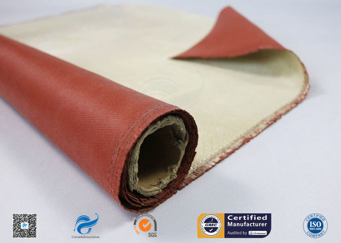Red Silicone Coated High Silica Fiberglass Fabric Insulation Materials