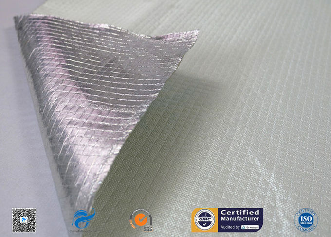 One Side Silver Aluminum Foil Coated Fiberglass Fabric For Fireproof