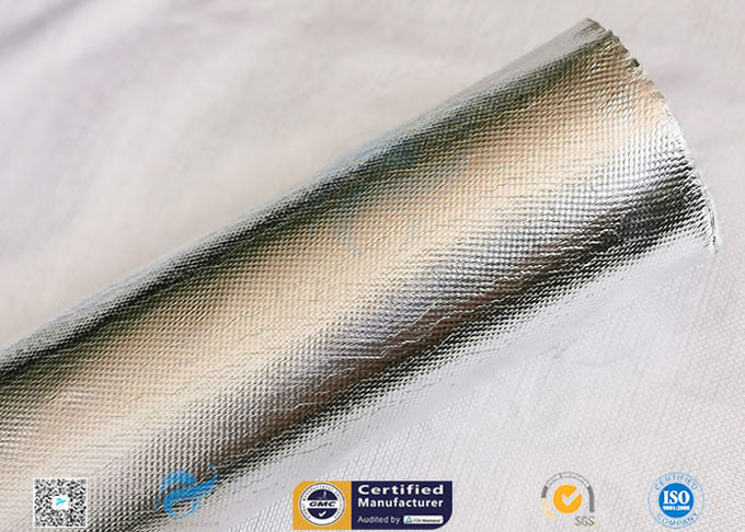 Industrial Hose Silver Coated Fabric Heat Sealing Aluminium Foil Coating