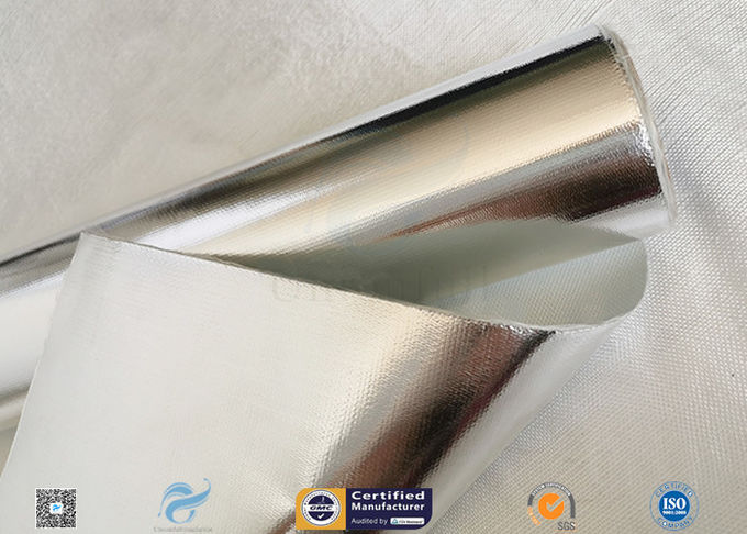Good Hermetic Laminated Aluminium Foil Fiberglass Fabric Smooth Surface