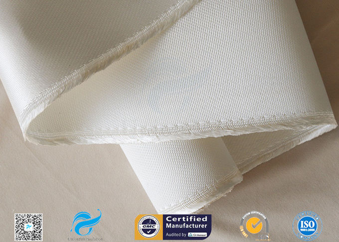 Asbestos free Satin Weave Silica Fabric Thermal Insulation 37oz High Silica Cloth